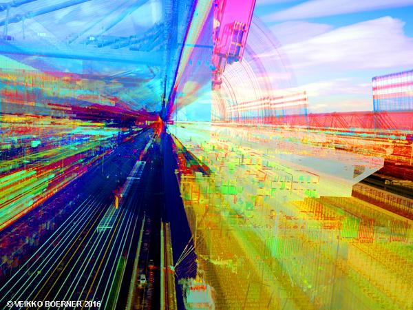 Langzeitbelichtung Hamburger Hafen