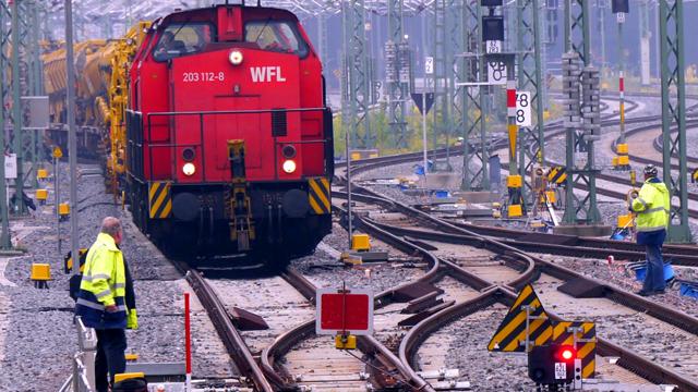 Zeitraffer Gleisbau