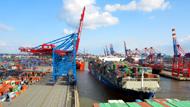 Zeitraffer Containerschiff