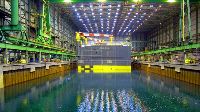 Zeitraffer Werft