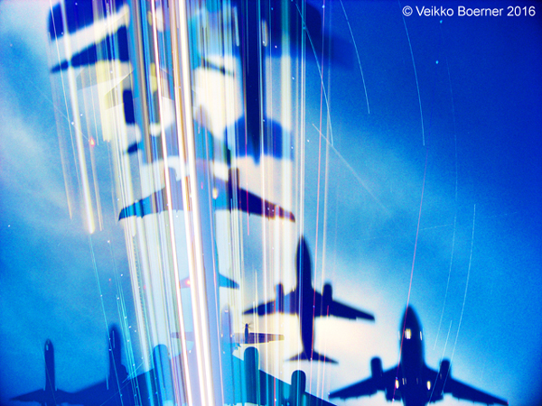Zeitraffer Flugzeuge